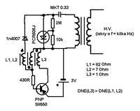 Generator HV z zapalarki na baterie