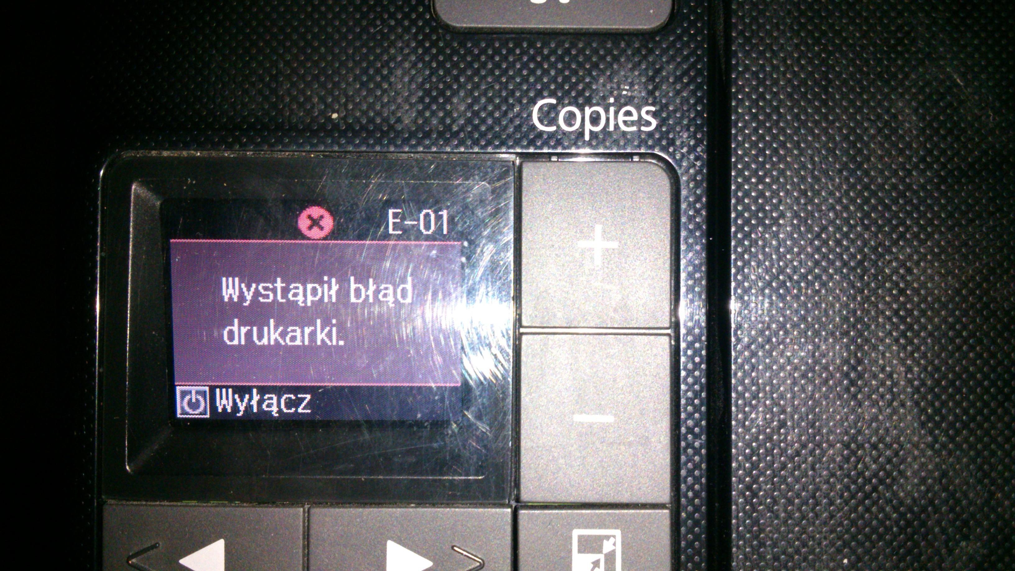 EPSON Stylus SX425 W - B��d drukarki E-01
