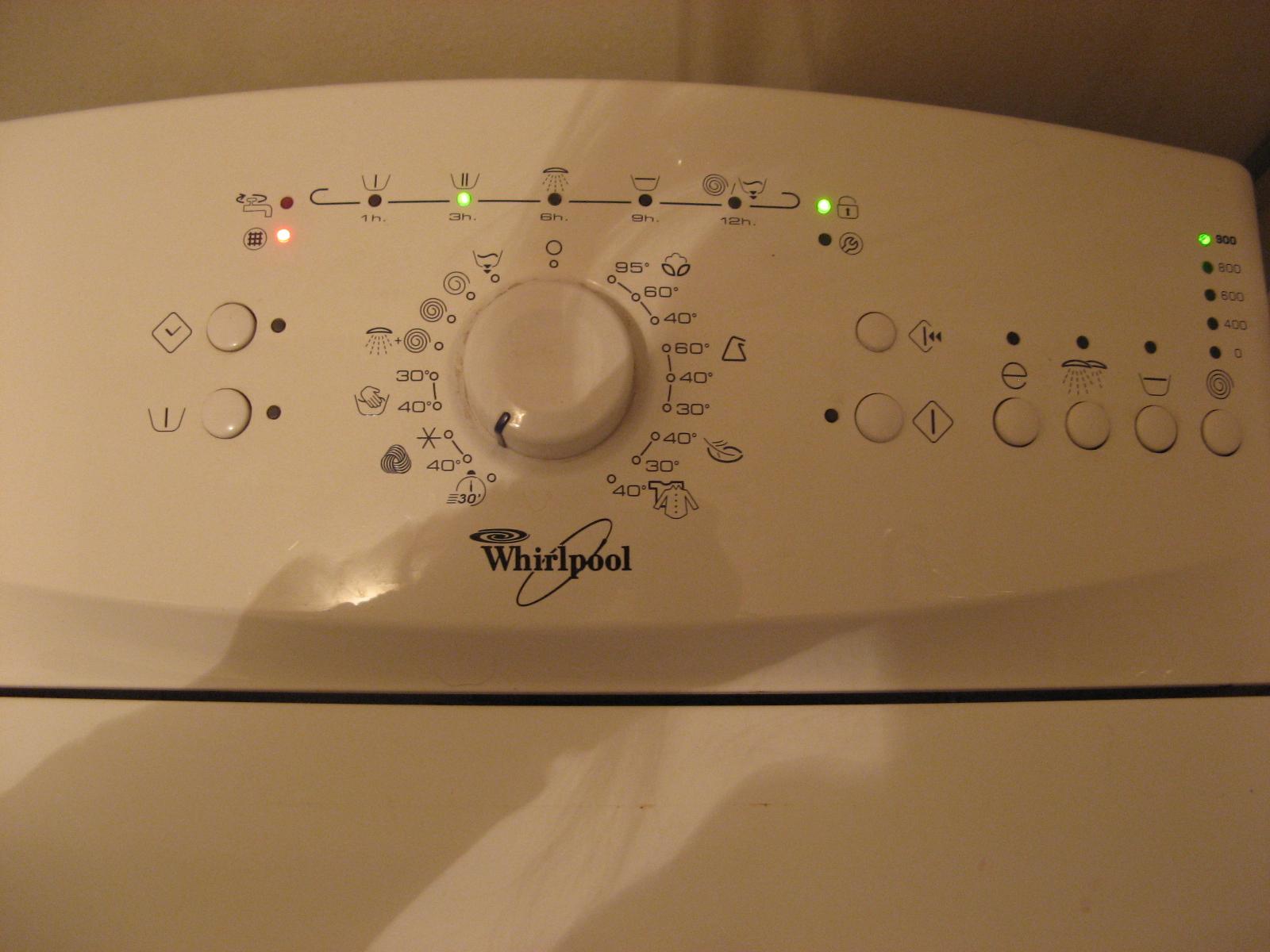 """whirlpool awe 6416 - zapala kontrolk� """"wyczy�� filtr"""""""
