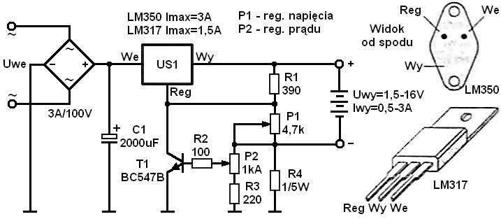 �adowanie akumulatora �elowego 6V 1,2Ah