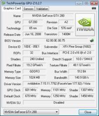 GTX 280 NVIDIA - Aktualizacja BIOS