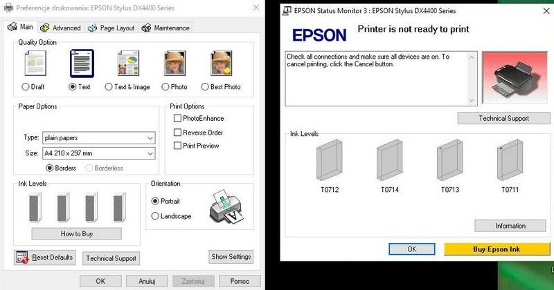 Reset Pampersa W Epson Dx4400