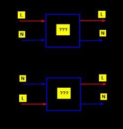 Jak osiągnąć polaryzację AC, czyli linii L i N ?