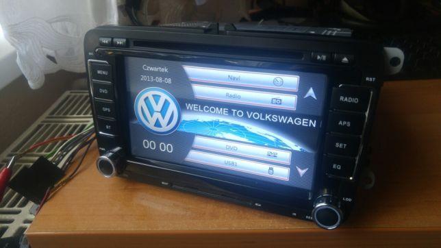 VW golf 5 1,9 tdi chińskie RADIO 2DIN pobiera prąd