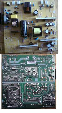 Benq G2320HDB odłączenie zasilania inwertera - podświetlanie LED.