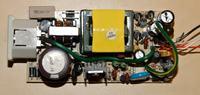 regulacja prądu w zasilaczu impulsowym od monitora, laptopa