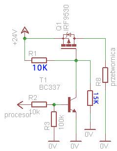 [avr] - załączanie obciążenia 24V/100W przez tranzystor