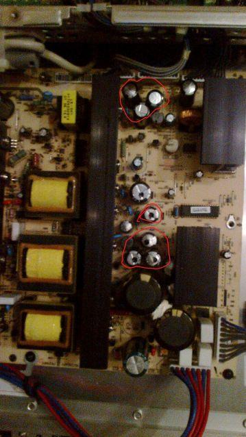 LG 42PC 1RR - Brak Obrazu Spuchni�te kondensatory, Ysus?