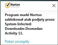Msiexec.exe wirus (System Infected: Downloader.Dromedan Activity 11).