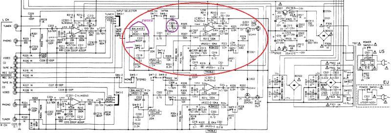 NAD 7240 PE - Sporadyczny brak dźwięku po przedwzmacniaczu