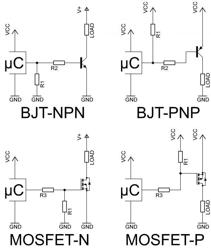 Jak zrobić aby tranzystor działał jak przekaźnik?
