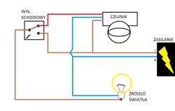 podłączenie wyłącznika do czujnika ruchu