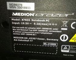 Medion Erazer x7833 - Kompatybilność zasilacza