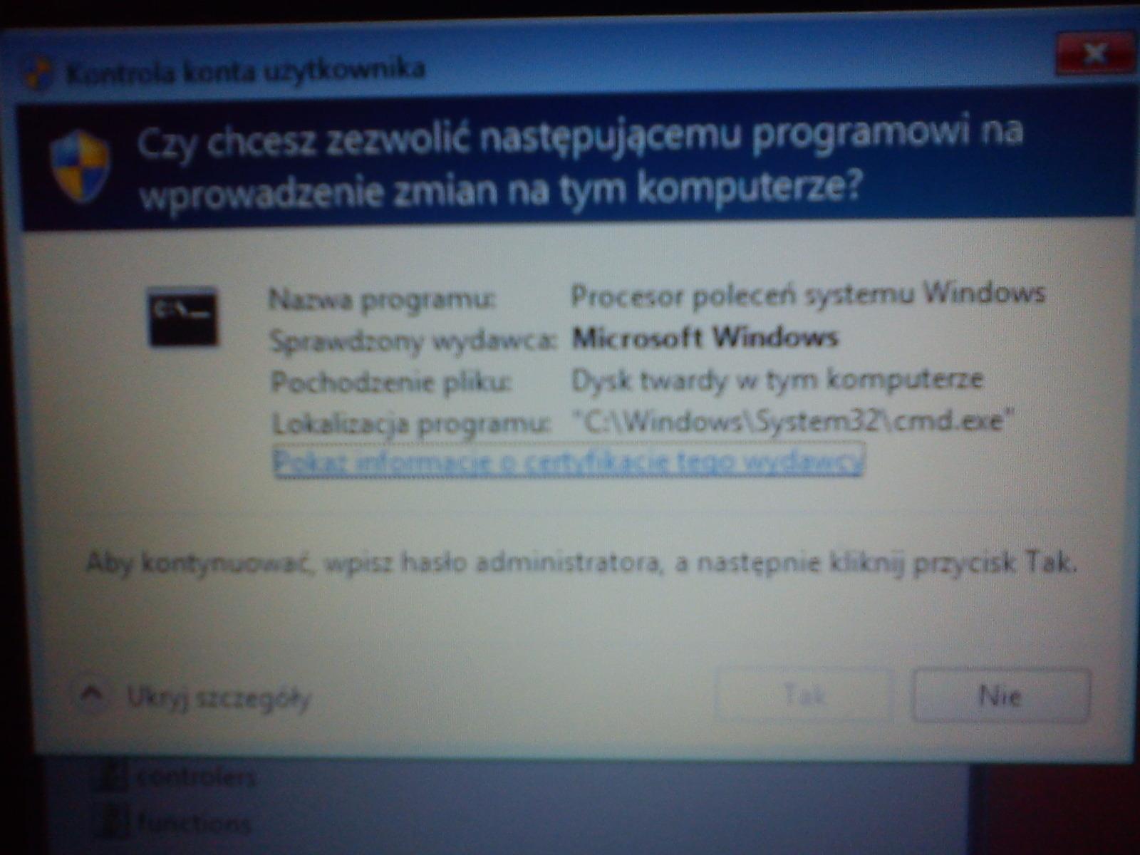 Windows Recovery Environment zamiast Lenovo Recovery