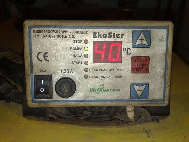 EkoSter sterownik kot�a - Dmuchawa nie wy��cza si�.