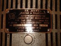 Autotransformator - TaR 2.5/0 - zgodno�� danych