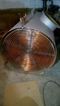 Robię bufor do centralnego i pompa ciepła do niego.