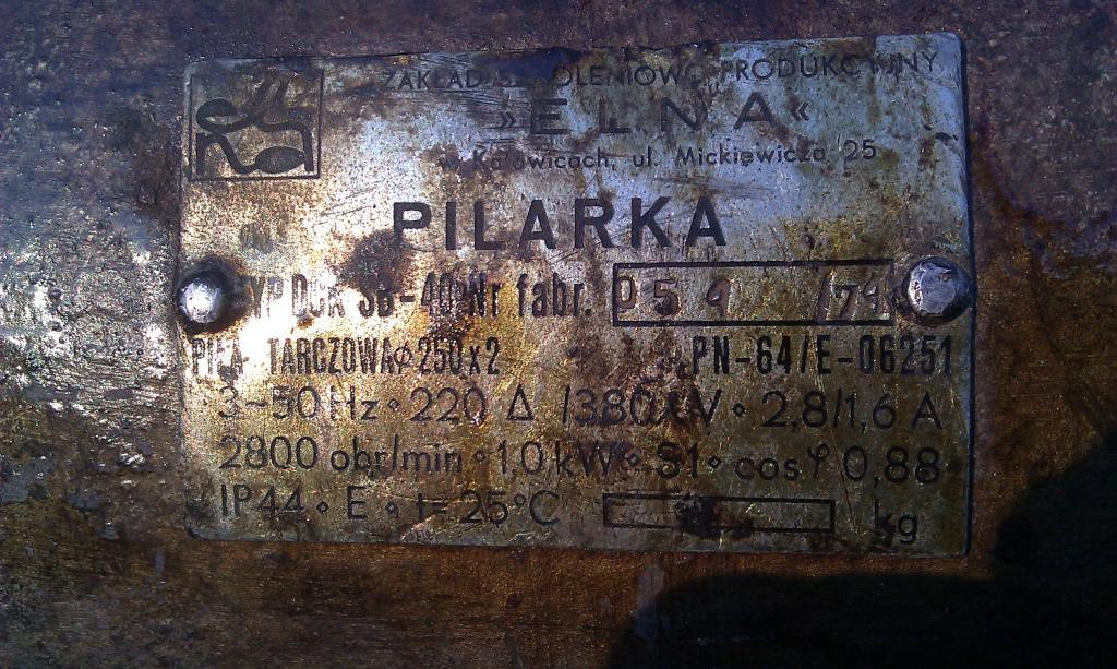 tabliczka znamionowa identyfikacja silnika