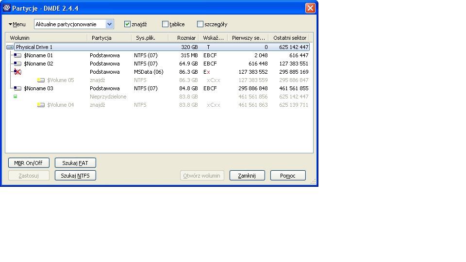 Toshiba MK3256GSY - Komenda clean w diskpart