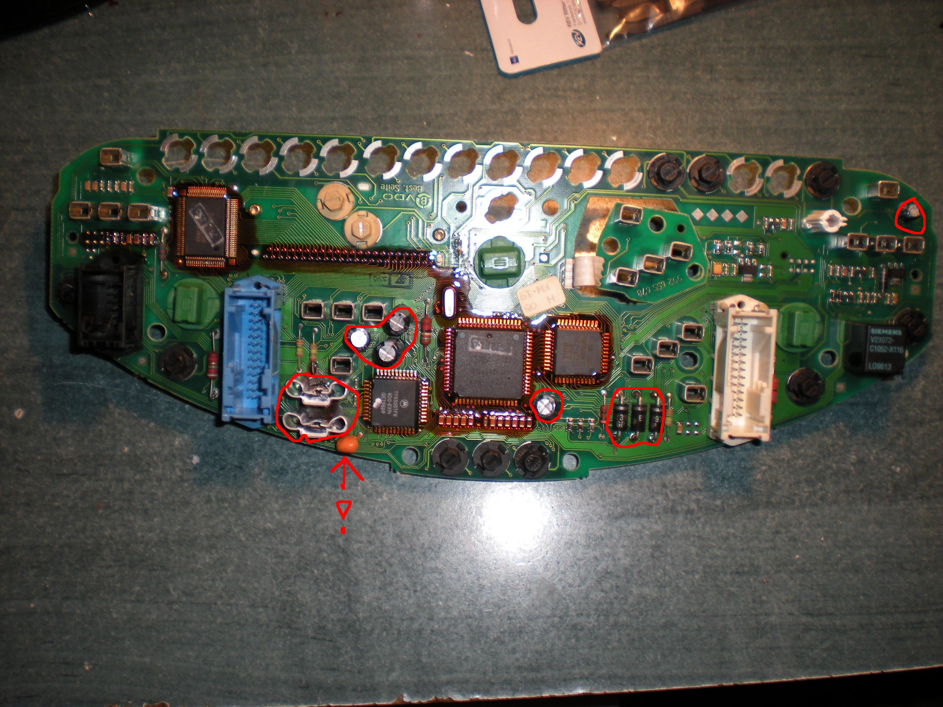 Bmw e36 318 1996 - Licznik VDO - symbol tranzystora