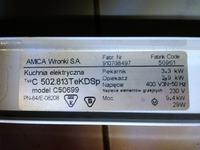 Kuchenka Amica Supernova - Nie działa piekarnik, oraz wyświetlacz