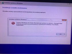 SSD instalacja systemu W10 - Problem z instalacją sysytemu na nowym dysku SSD