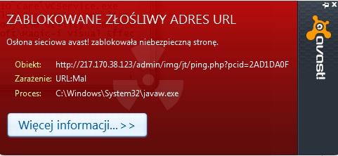 Program avast - ca�y czas wskakuje mi o blokowaniu z�o�liwego adresu url