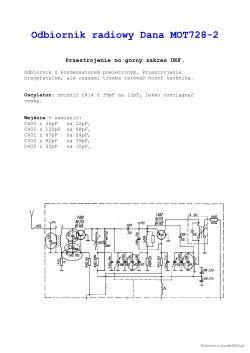 Radio Unitra Dana MOT- 728 - Jak przestroić radio Dana
