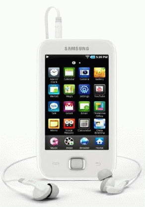 Galaxy YP-G50 - PMP z Wi-Fi i Android 2.1 od Samsung
