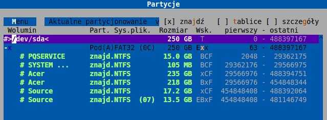 Przywrócenie partycji DMDE - Skasowane wszystkie partycje