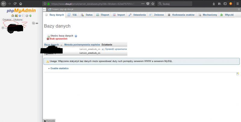 [Inne] Uprawnienia MySQL cba.pl testingnewfeatures.c0.pl/
