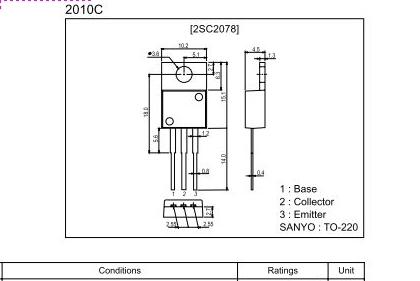 Canva CB-268 - Urwany pad lutowniczy bazy 2SC2078 (ko�c�wki mocy), brak schematu