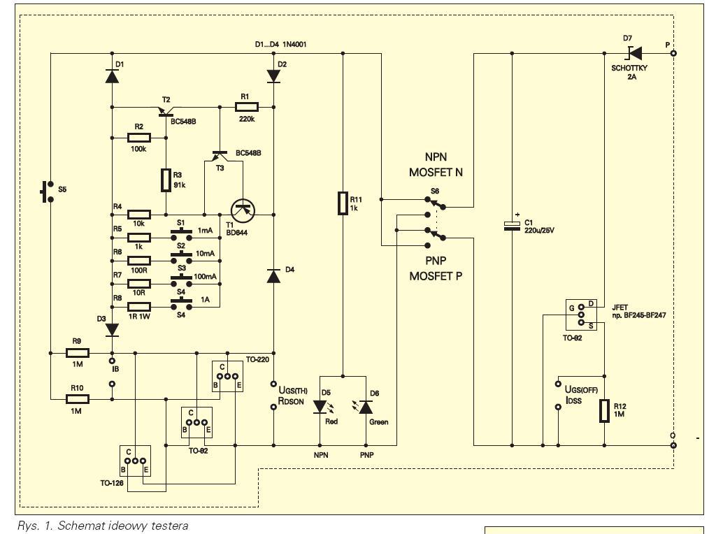 AVT 2200 - Tester tranzystor�w-pytania odno�nie zasady dzia�ania.