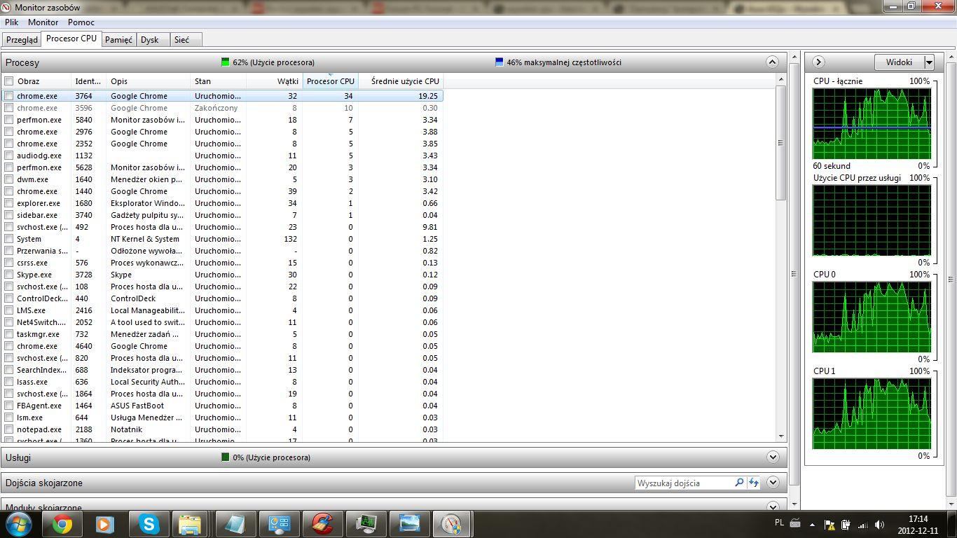 Asus k52jc - Wysokie u�ycie procesora - cz�sto CPU 100%