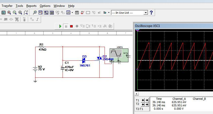 Homework Sawtooth Generator Using A Thyristor