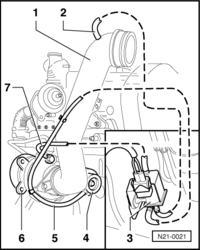 Schemat podłączenia wężyków podciśnieniowych