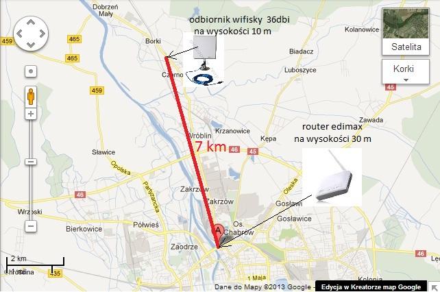 antena wi fi zewn�trzna i ruter 7km
