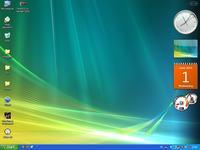 Vista Rainbar 4.6 - sidebar z Windowsa Visty pod Windows XP