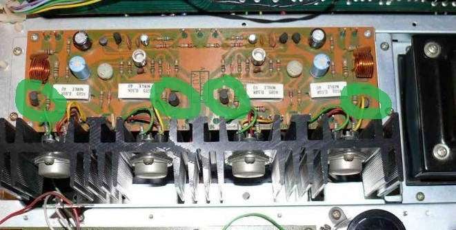 Trzeszcz�cy kana� lewy w amplitunerze Pioneer.