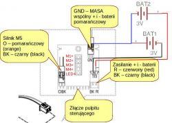 Przerobienie robotic arm z baterii na zasilacz