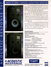 Acoustic Response series 707 - Jakie zamienniki