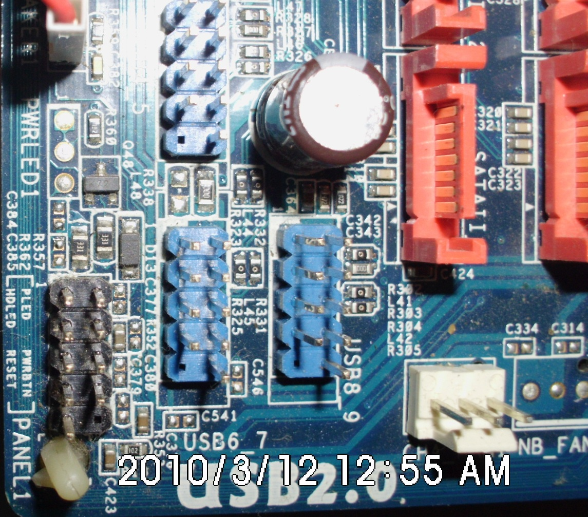 Conexi0f3n del panel frontal de la pc power led - индикация работы компьютераpower sw - питание на кнопку