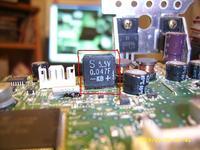 SONY CDX-M600R - rozerwany kondensator