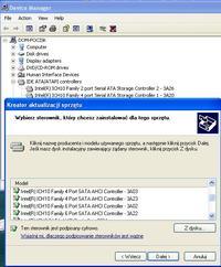 Instalacja sterownika AHCI po instalacji systemu XP
