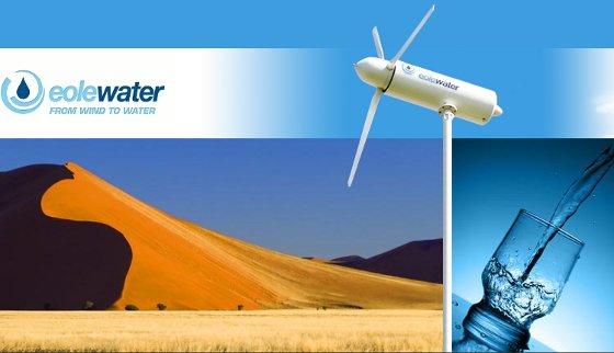 Turbina wiatrowa zamienia wilgo� z powietrza w wod� pitn�.