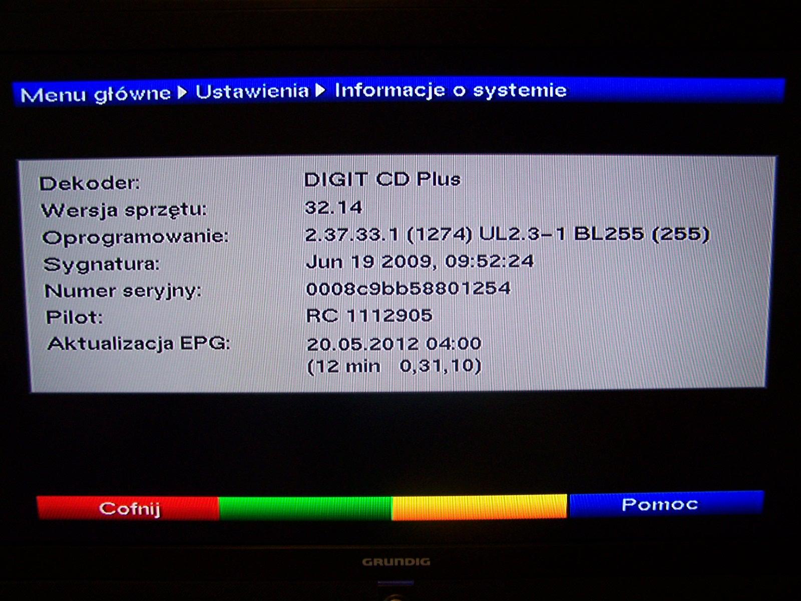 TECHNISAT DIGIT CD PLUS - TNK - Brak sygna�u oraz kana��w.