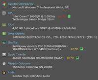 Laptop Samsung RF511 - Wysokie temperatury