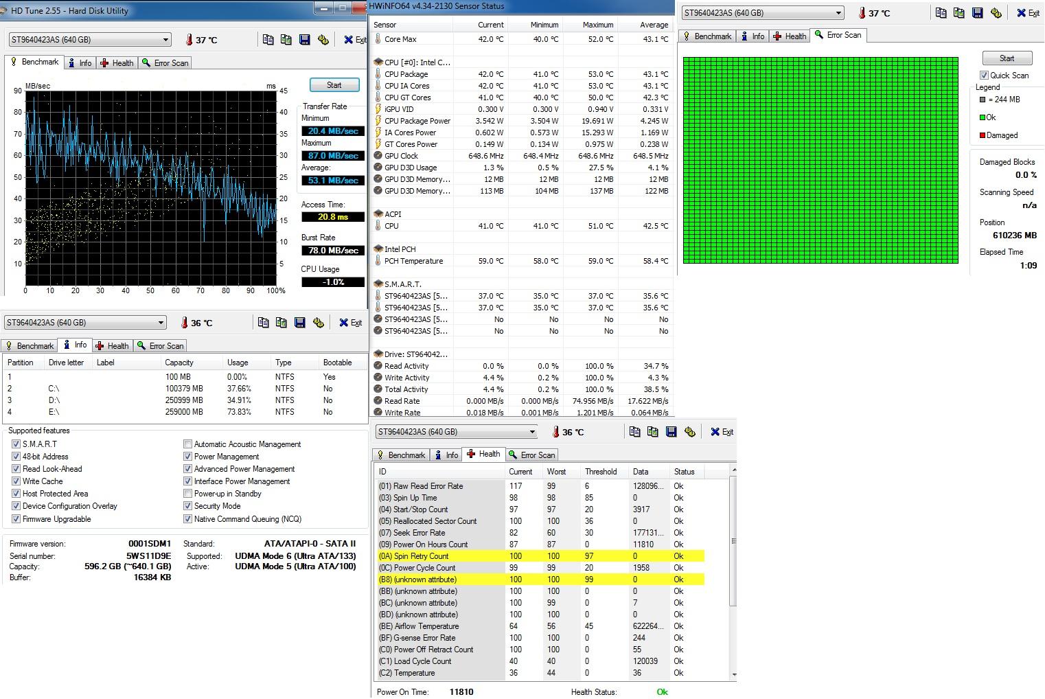 ST9640423AS - Laptop wolno chodzi, bardzo cz�sto si� zacina;czy jest uszkodzony?