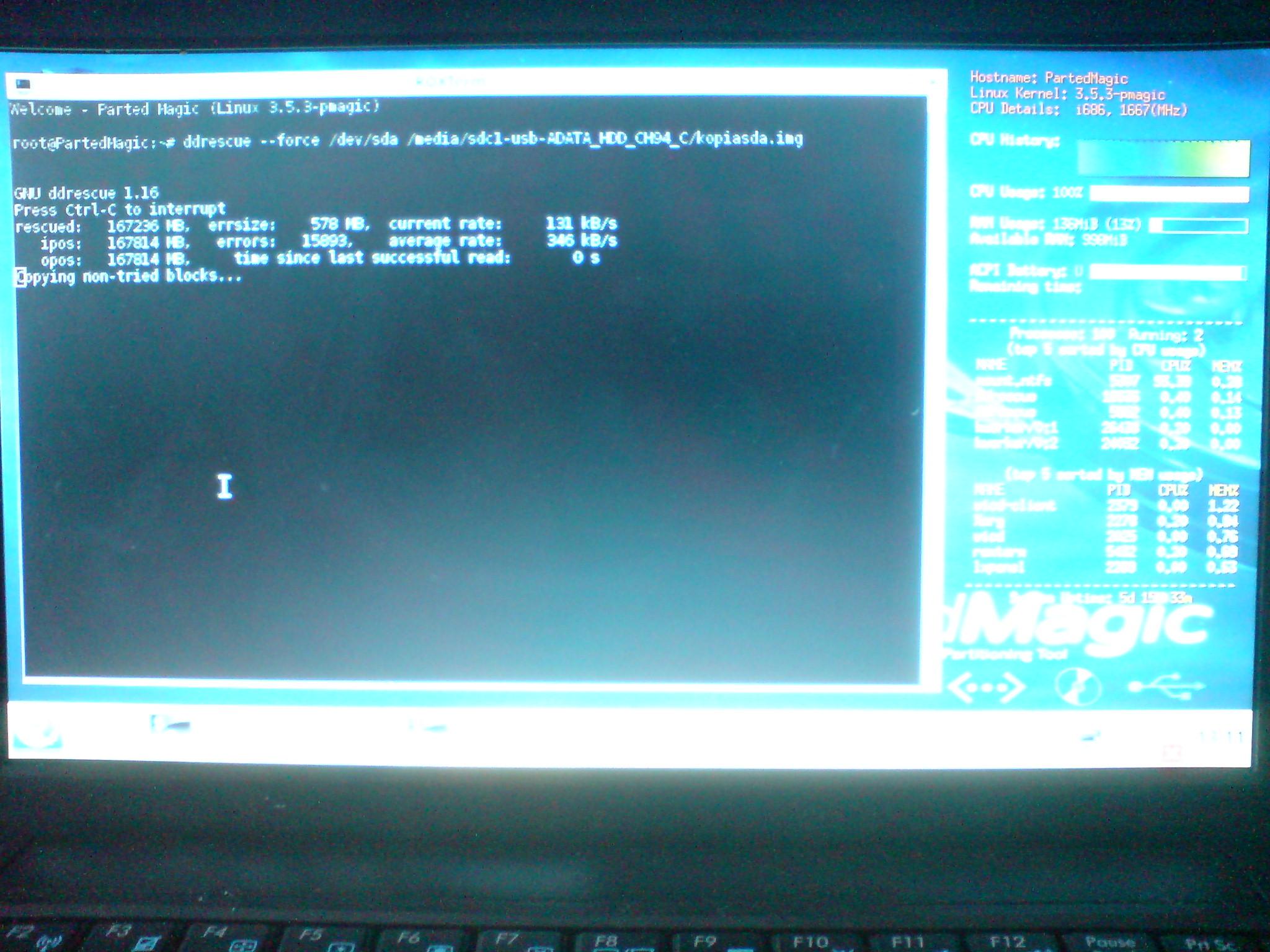 asus eee pc 1001pxd - Brak dost�pu do partycji NTFS na Lubuntu live cd