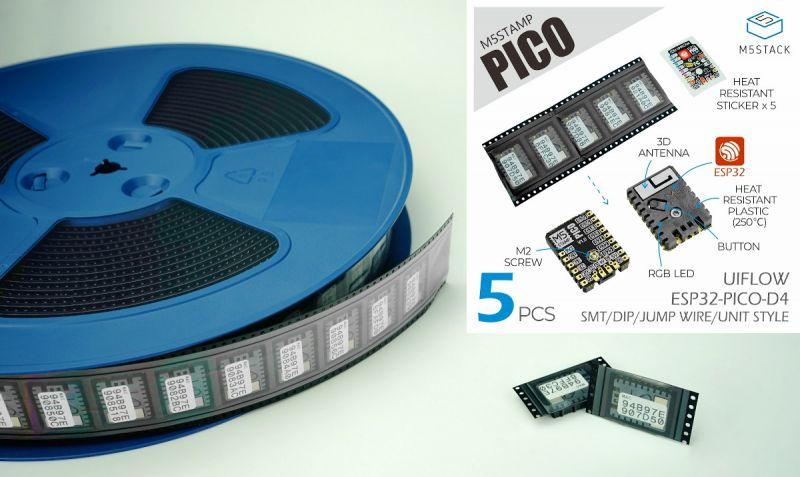 Moduł M5Stamp Pico ESP32-PICO-D4 z plastikową pokrywą